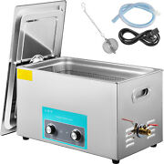 22l Ultrasonic Cleaner With Heater Timer Dentures 0-80℃ Water Drain