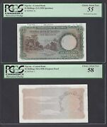 Nigeria 2 Notes 10 Shillings Nd1958 P3p-p3s Specimen-proof About Uncirculated