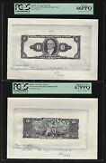 Brazil Face And Back 10 Cruzeiros Ndca1961-63 P167 Essay Proof Uncirculated