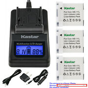 Kastar Battery Lcd Fast Charger For Canon Nb-11l Canon Elph 340 Hs Elph 350 Hs