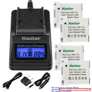 Kastar Battery Lcd Fast Charger For Canon Nb-11l And Canon Elph 135 Elph 140 Is