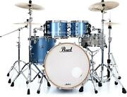 Pearl Masters Maple Complete 4-piece Shell Pack - 22 Kick - Chrome Contrail