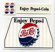 Minnitoys Pepsi Cola Beverage Truck Replacement Decals