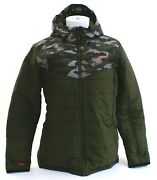 Oand039neill Transit Green Camo Insulated Zip Front Hooded Snow Jacket Menand039s Nwt