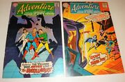 Adventure Comics Superboy 361365 Adam Covers Vf- 1967/68 White Pages