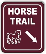 Horse Trail Directional 45 Degrees Down Right Arrow Aluminum Composite Sign