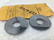2 New 63mm X 1.630mm X 22mm Southern Carbide Slitting Saws Undersize 2 1/2