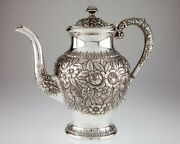 S Kirk And Son Hand Chased Repousse Coffee Pot And Waste Bowl 474 Gorgeous