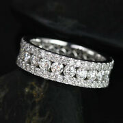 1.00 Ct Stunning Natural Diamond Engagement Band Solid 14k White Gold Size 7 6 5