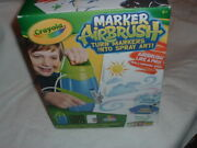 Crayola Airbrush Set Stencils And Markers Turn Markers Into Spray Paint New