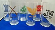 Set Of 6 Vintage Bicentennial 1776-1976 Tall Drinking Glasses