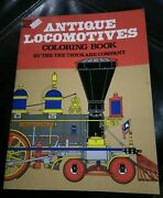 Dover Coloring Book Antique Locomotives By The Tre Tryckare Company