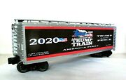 O Scale Lionel 3 Rail Custom Lettered Trump Train Collectible Reefer Lot T