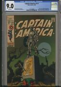 Captain America 113  Cgc 9.0  Iconic Jim Steranko Cover/story  Black Panther