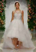 Brand New Mori Lee Phoenix Sweetheart Lined Bateau Bodice Tiered Gown Style 2047
