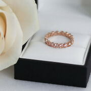 2.00 Ct Real Diamond Wedding Proposal Band For Women Solid 14k Rose Gold 5 6 4 7