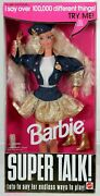 Super Talk Barbie Doll - Mute 14308 Never Removed From Box 1995 Mattel Inc.
