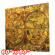 Wall Hanging Tapestry Deco Bedspread Classic Antique Nautical World Map Poster