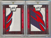 2011-12 Panini Prime Colors Alex Ovechkin Game Used Jersey Logo Patch 1/2 And 2/2
