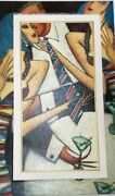 Andrei Protsouk Original Hand Painted Frame And S/n Giclee Blue Tie 2004 41x 27