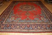 Antique Handmade Rug 10and039 X 13and039 Circa 1930and039s Vintage Oriental Rug Tribal Frloal