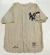 Mickey Mantle 1951 Mitchell And Ness Ny Yankees 7 Rookie Jersey Size 52 Rare