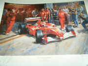 Alan Fearnley Just Another Day At The Office Micheal Schumacher Print Signed
