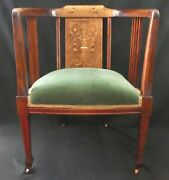 Antique Empire Style Arm Chair. Mother-of-pearl And Wood Inlay. Solid And Tight.1895