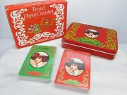 Vintage Coca Cola Sealed Playing Cards 2 Deck Pack In Tin - British Hong Kong