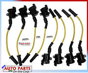 Ignition Wire Set+ 8 Igntion Coils For Silverado Express Van Tahoe 4.8 5.3l 6.0l