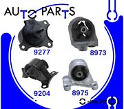 Engine Motor And Trans Mount Set 4pcs For Acura El 1.7l 2001-2005 Hyd For Manual T
