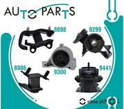 Eng Motor And Trans Mount Kit 5pcs For Acura Mdx 3.5l V6 2001-2002 Hyd With Vacuum