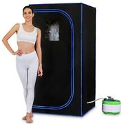 Pyle Slisau35bk Portable Personal In-home Detox Spa Steam Therapy Heated Sauna