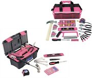 Tool Kit In Box Tools Set Bag Screwdriver Hammer Wall Anchor Wrench Pliers Tape