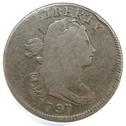 1797 S-120b R-2 Anacs G 6 Draped Bust Large Cent Coin 1c