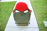One Yellow Carbon Fiber Cuga Style Red Cloth Reclinable Racing Seat With Slider