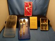 Vintage 1847 Rogers Bros 3 Silverware Baby/childs Fork And Spoon Set 2 All 3 For 1