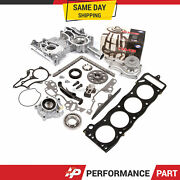Heavy Duty Timing Chain Kit Oil Water Pump Head Gasket For 85-95 Toyota 22r
