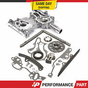 High Performance Timing Chain Kit Timing Cover For 85-95 Toyota 22r 22re 2.4