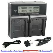 Kastar Battery Lcd Dual Fast Charger For Np-fh70 Sony Dcr-sx40 Dcr-sx41 Dcr-sx50