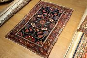 Antique Genuine Bakhtiari 4and0396x7and039 Kurdish Rug 19th Century Hand -knotted Rug