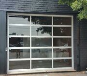 Full View [8and039 X 8and039] Anodized Aluminum And Tempered Clear Glass Garage Door