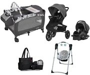 Evenflo Combo Set Baby Swing Stroller Jogger With Car Seat Diaper Bag Playard