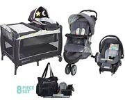 Baby Trend Combo Set Stroller With Car Seat Nursery Center Playard Diaper Bag