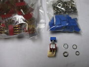 2 Pc Candk Switches 8421 Series Pushbutton On-off 1a 120vac Incl Face Bevel Nut