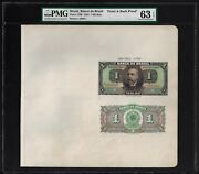Brazil Face And Back One Mil Reis 1923 P110bp Proof Uncirculated
