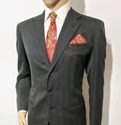 Anderson And Sheppard Bespoke Hand Made Mens Suit Charcoal Uk 40r W32 L32 Rrpandpound2995