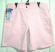 Morrisons Bnwt Womens Size 20 Meas W40 X Full Length 22 Pink Shorts Free Post