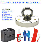 Complete Fishing Magnet Set Kit With 1000 Lbs Pull Force Neodymium Magnet