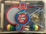 Melissa And Doug Band-in-a-box Clap Clang Tap 10pc Music Instruments Set Wood Toys